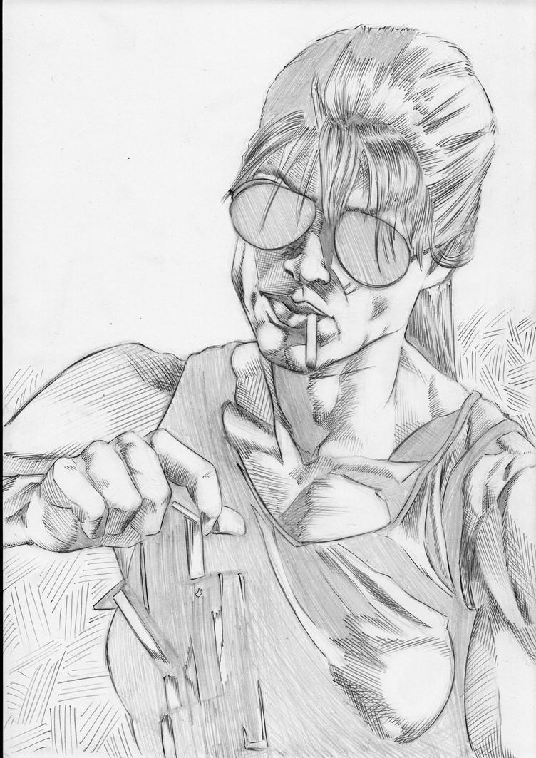 Sarah Connor (pencils) by philtactics