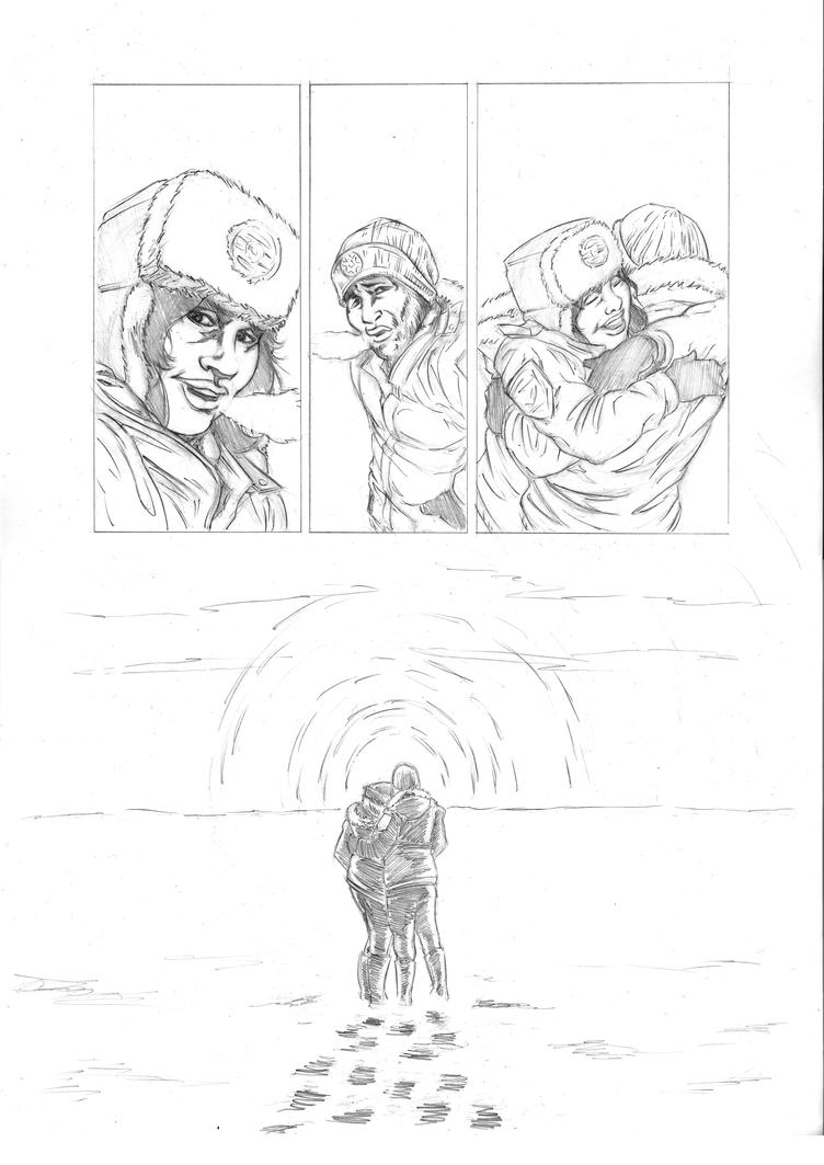 30 Days of Night redraw page 6 pencils by philtactics