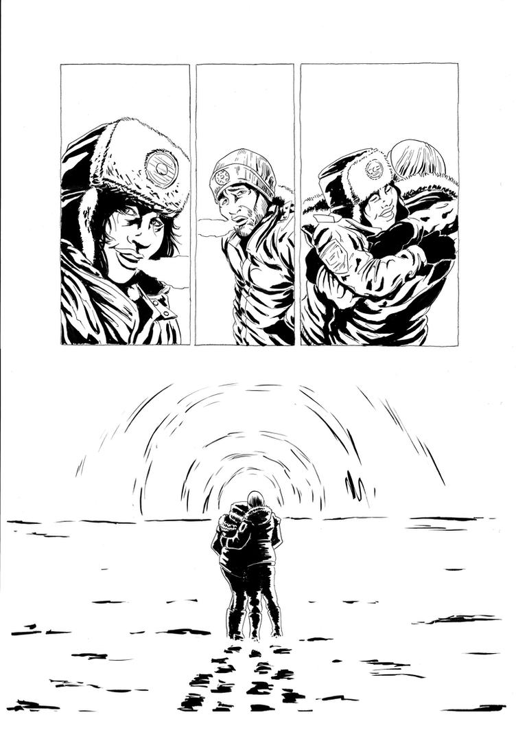30 Days of Night redraw page 6 inks by philtactics