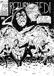 Return of the Jedi/ Fantastic four cover - Inks by philtactics