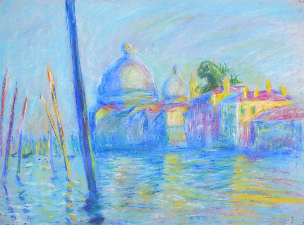 Godzilla in The Grand Canal in Venice by Monet by LCNarwhal on ...