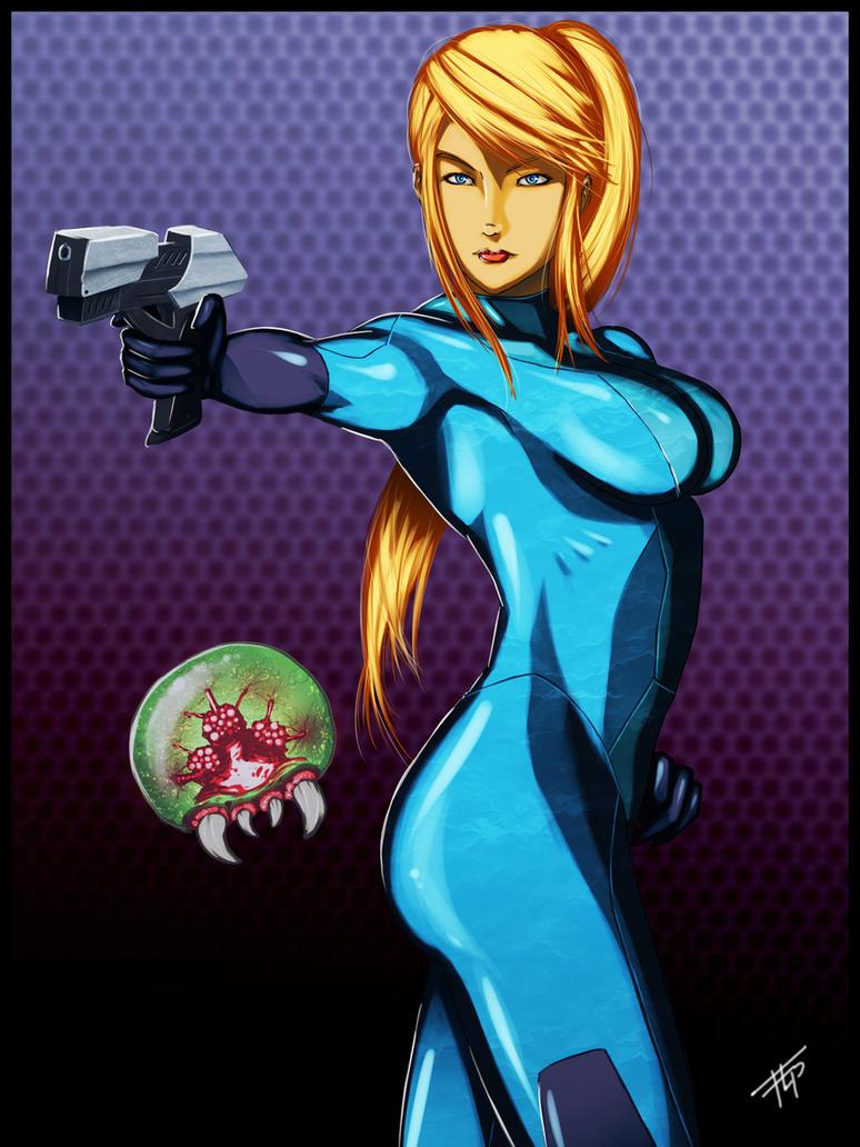 Metroid: Zero Suit Samus by Bathiel