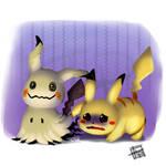 Pokemon: Mimikyu and Pikachu