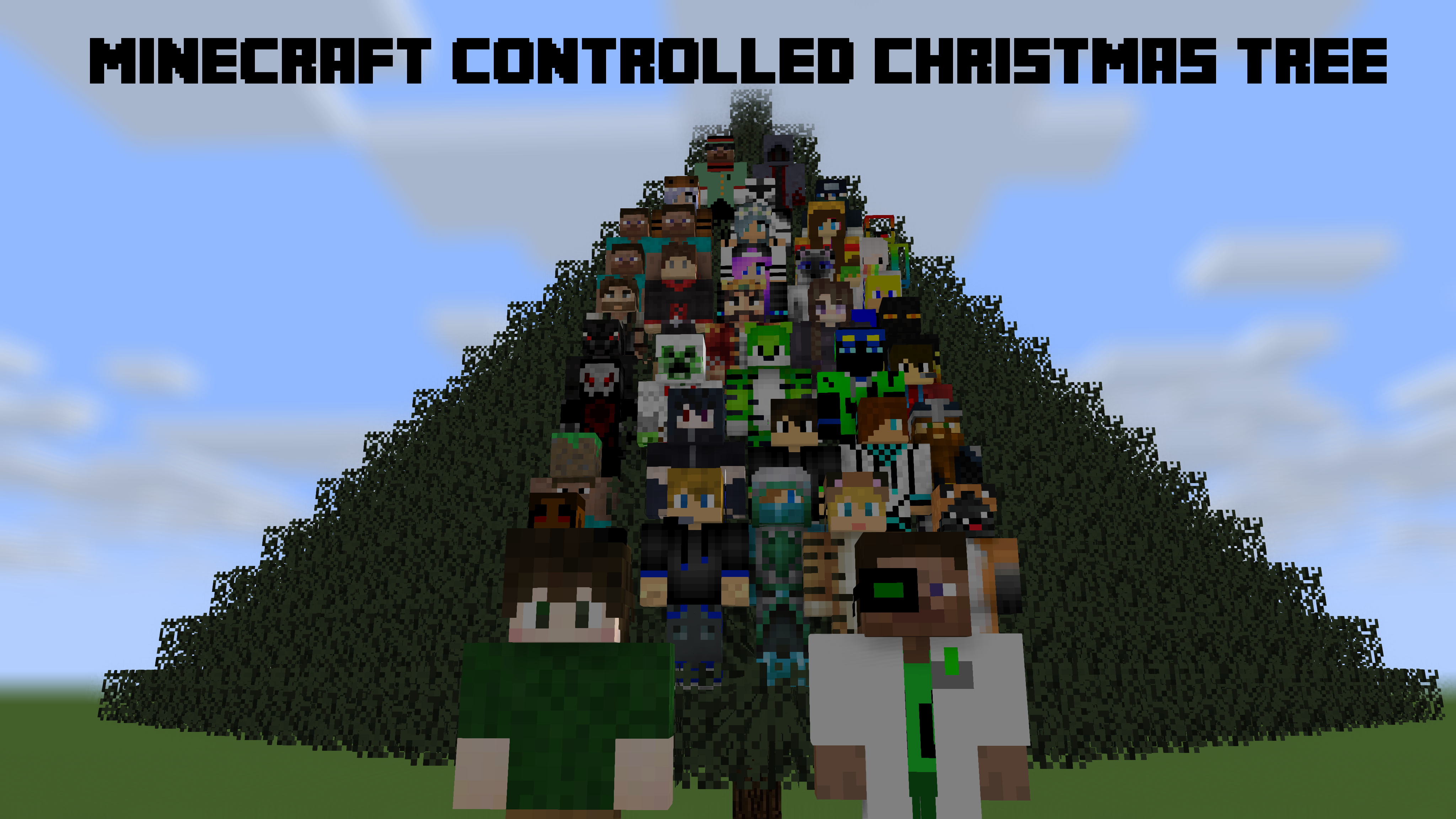Minecraft Controlled Christmas Tree: 40 Players by Dlljs on DeviantArt