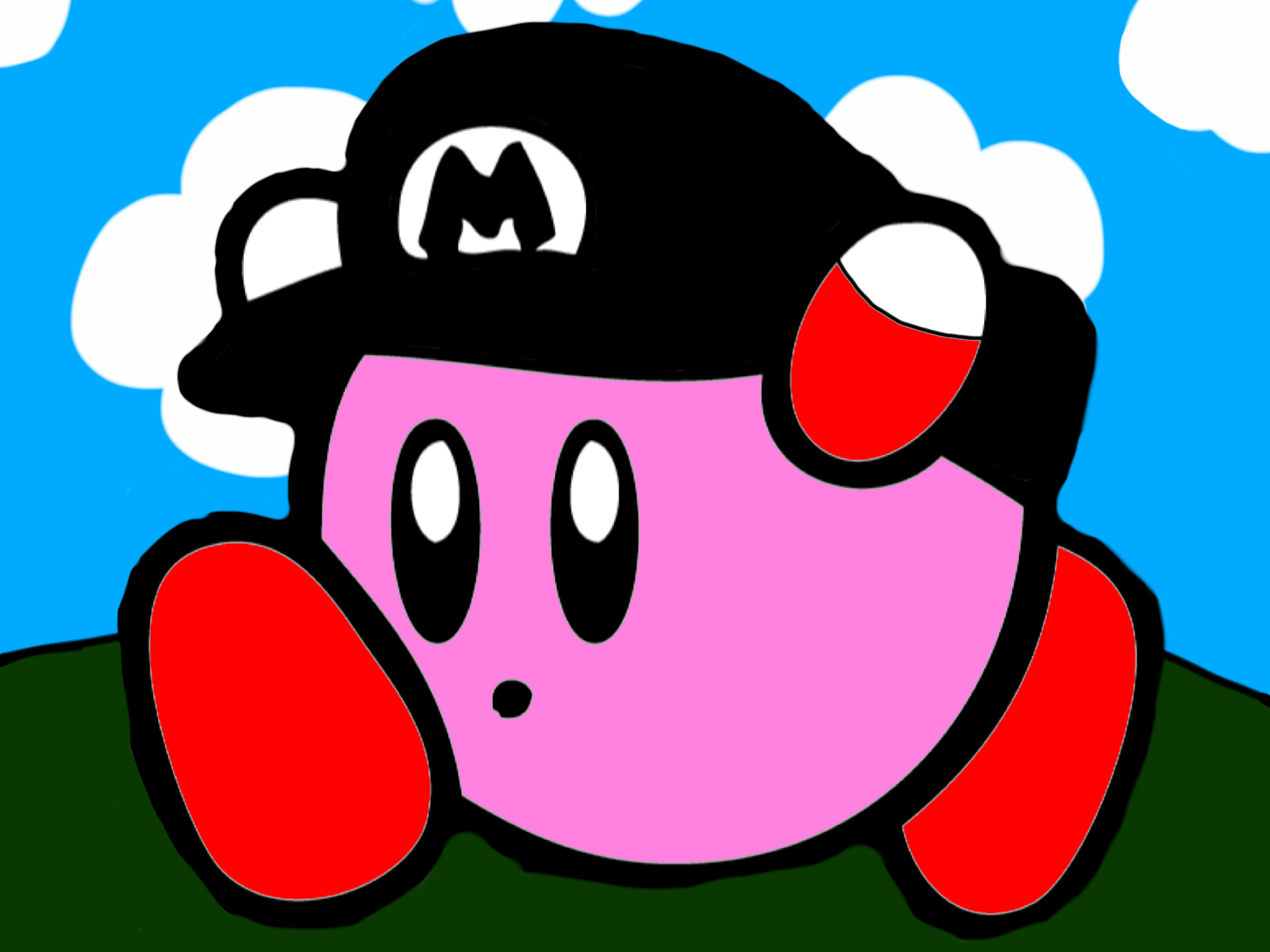 flying paper kirby based off of flying mario by cyanwisp79 on