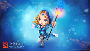 WALLPAPER:  Crystal Maiden DOTA 2 Chibi style by VirtualMan209