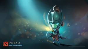 WALLPAPER: Phantom Assassin DOTA 2 Chibi style by VirtualMan209