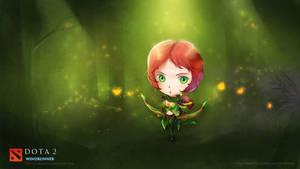 WINDRUNNER DOTA 2 Chibi style by VirtualMan209
