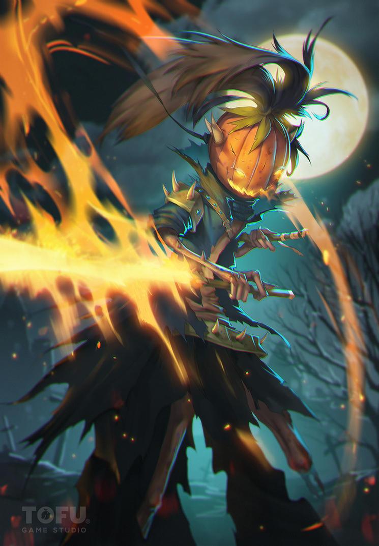 Pumpkin Warrior by VirtualMan209