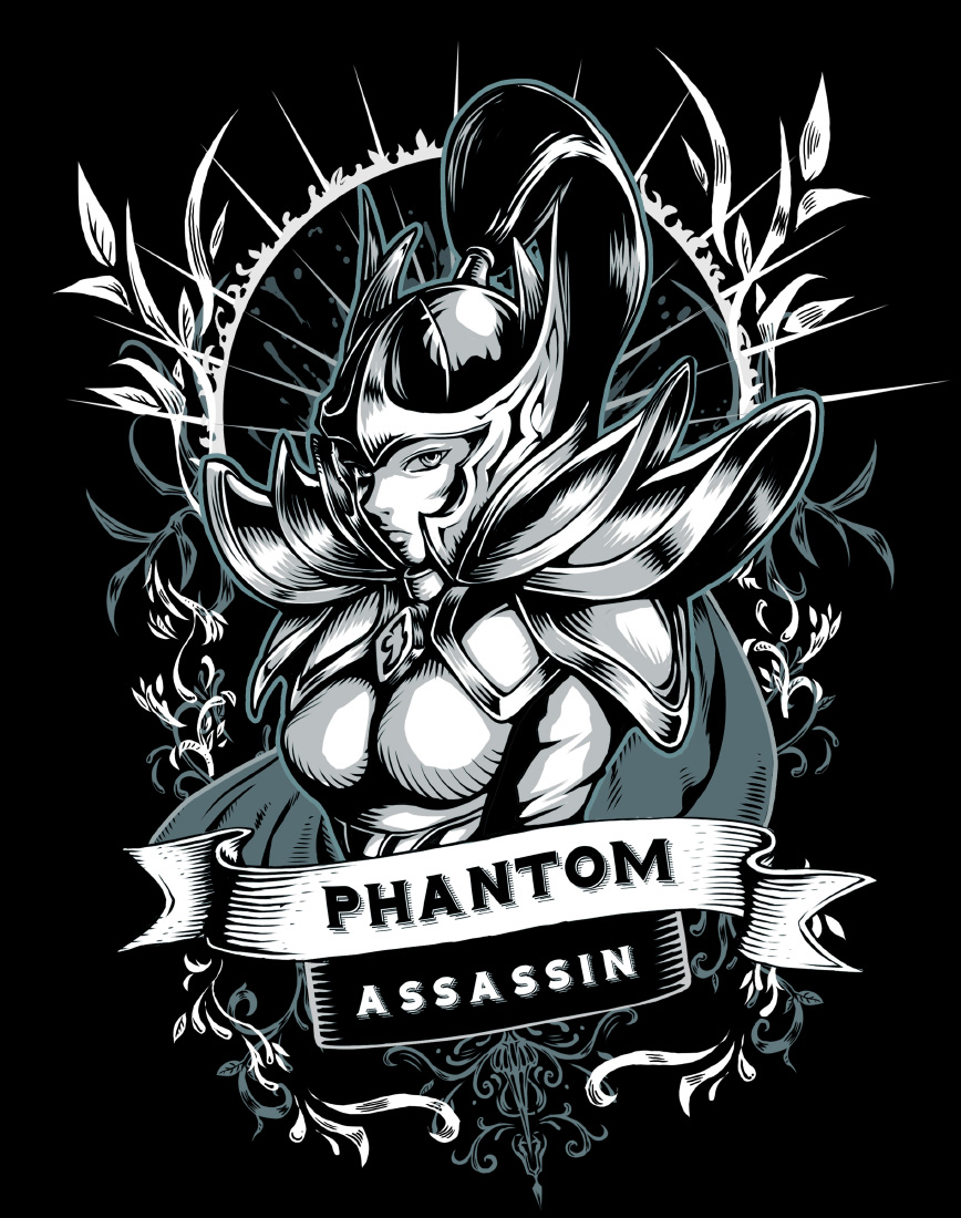 Dota 2 tshirt design - Phantom Assassin Dota2 Fanart By Virtualman209 Phantom Assassin Dota2 Fanart By Virtualman209