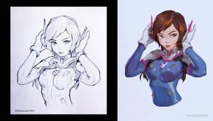 D.VA sketch to color