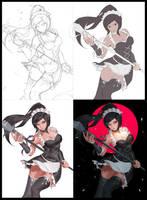 Process of  my art by VirtualMan209