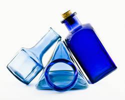 Blue glass on white by ninereeds-DA