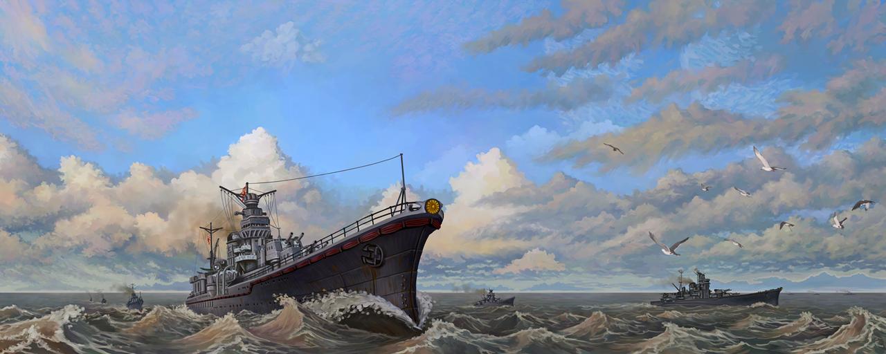 Vice Admiral Sentaro Omori's Task Force by U-Joe