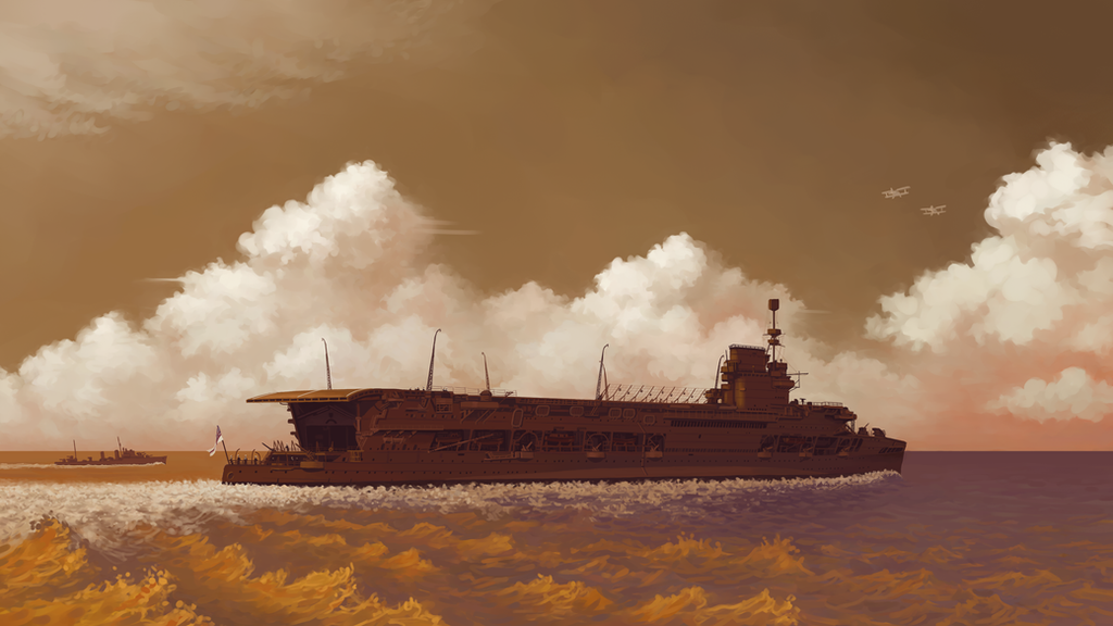 HMS Courageous by U-Joe