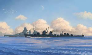 IJN destroyer Fuyutsuki by U-Joe