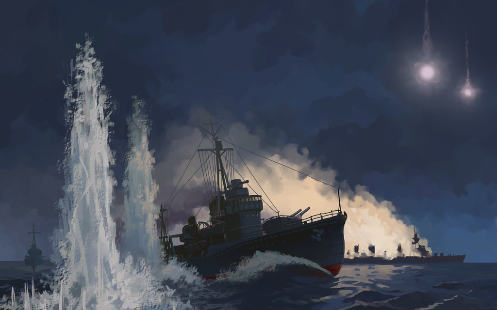 Battle of Empress Augusta bay by U-Joe