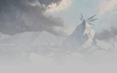 Cirno's Frozen Throne by U-Joe