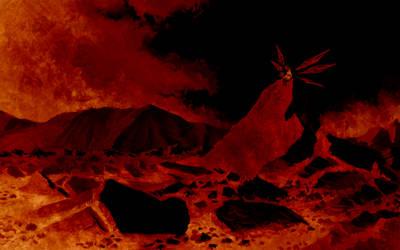 Cirno's Flame Throne by U-Joe