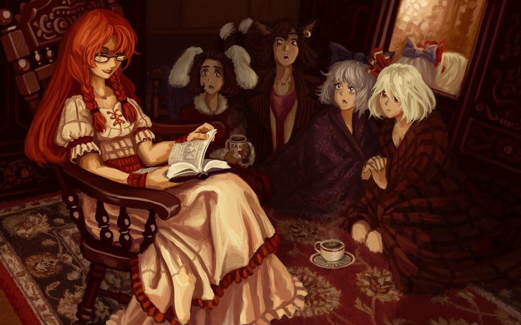 Meiling reads a fairy tale