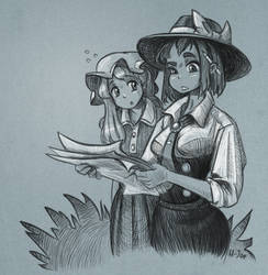 Renko and Maribel sketch by U-Joe