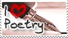 I Heart Poetry - Stamp by Touch-and-Go