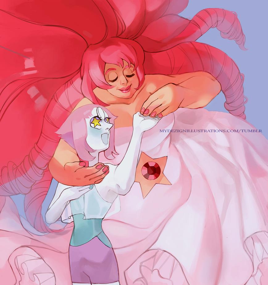 Rose Quartz and Pearl original by theAZscorpio
