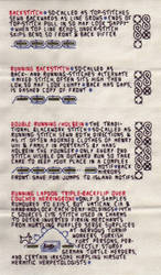 Blackwork Stitch Techniques