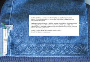 Jeans with Mamluk Border