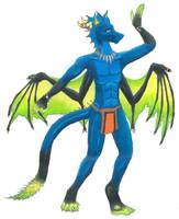 Tribal Dragon Beckoning by Drekena