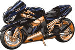 Custom zx-14 motorcycle