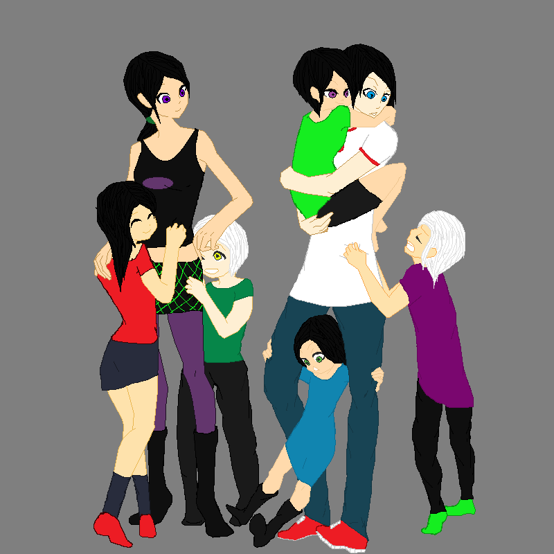 Danny and sam family fenton family by poeticneko