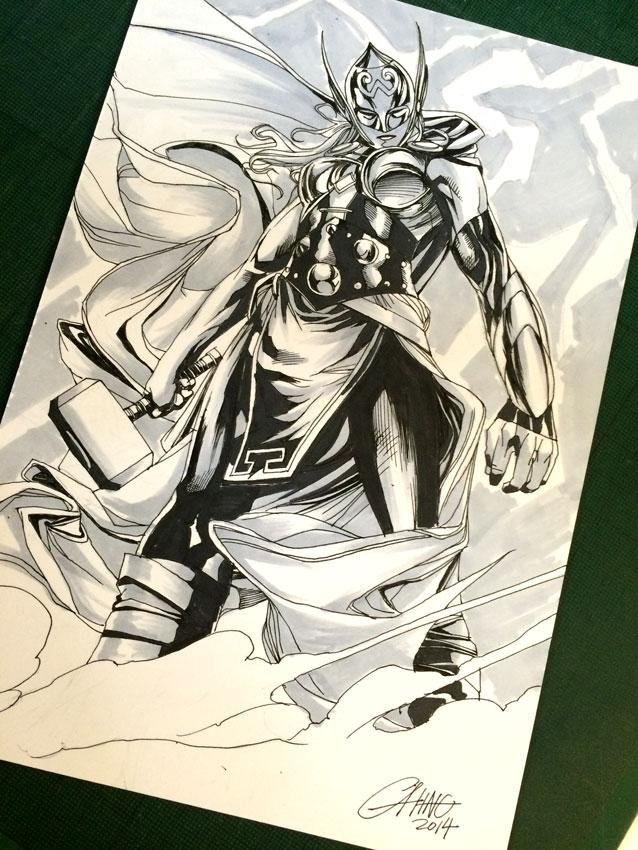 New Thor - INKtober10 by Titancross