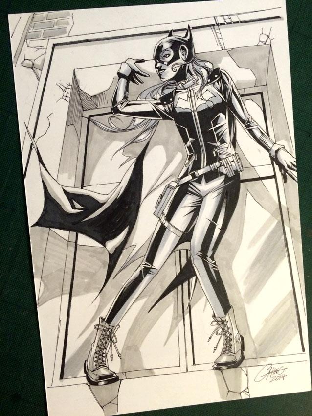 Batgirl - INKtober12 by Titancross