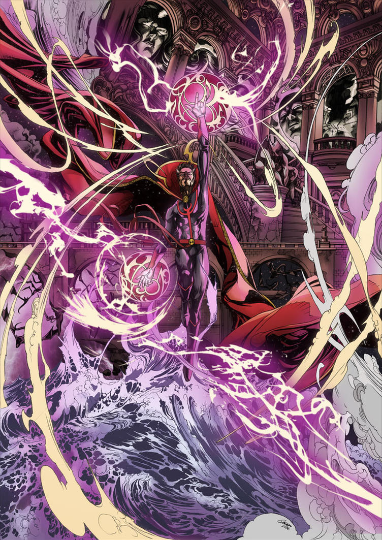 Doctor Strange colored by Titancross