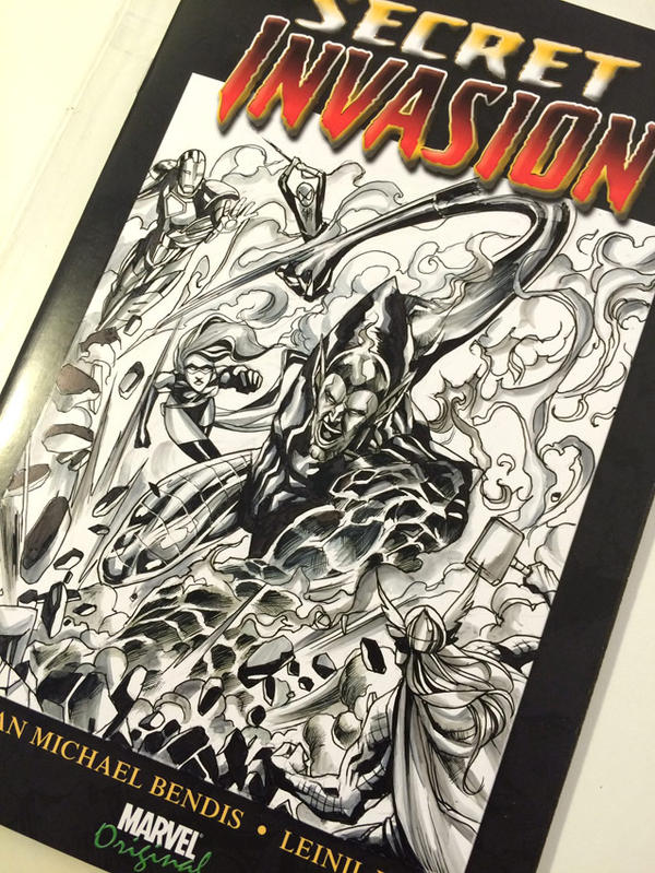 Super Skrull Blank Cover commission by Titancross
