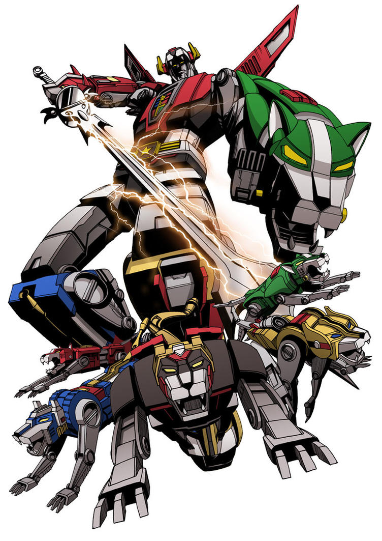 The Mighty Voltron by Titancross