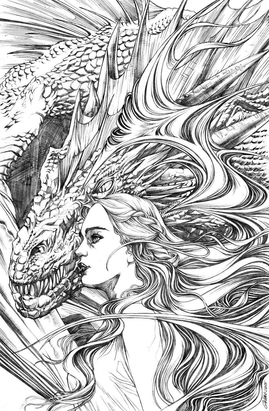 The girl with the dragon by Titancross