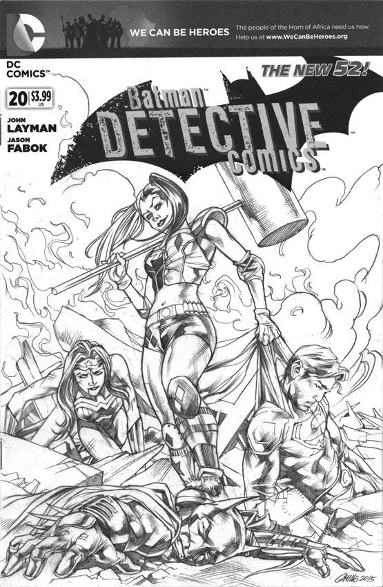 Harley versus The Trinity JLA by Titancross