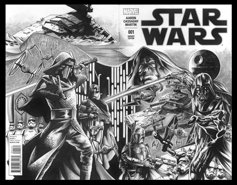 Star Wars blank cover A (1 of 3): Legacy (Inks) by Titancross