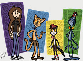 (Art Jam Entry) Jenny Meets New Animal Friends by fitzsanchez