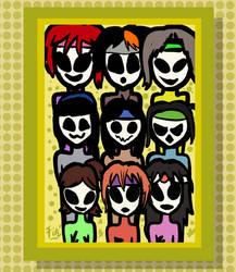 (Art Trade) Golem Girls by fitzsanchez