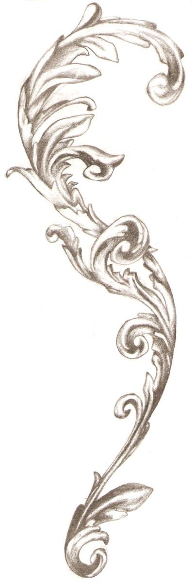 Blank Scroll Tattoo Designs