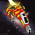 Triikor Heavy Interceptor (Homeworld) by Darkanvas