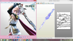 lightning gunblade pepakura by Joshsonic8