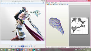 lightning pauldron pepakura by Joshsonic8