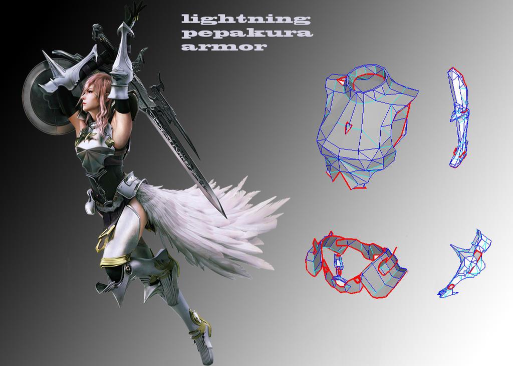 lightning farron pepakura pack revisted by Joshsonic8