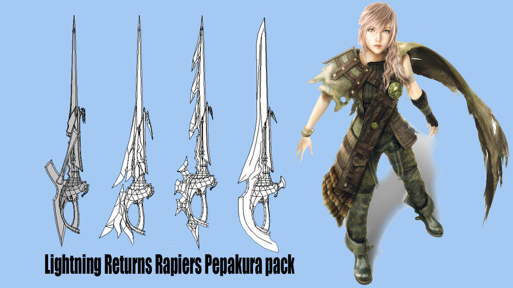 Lightning Returns Rapiers Pack by Joshsonic8