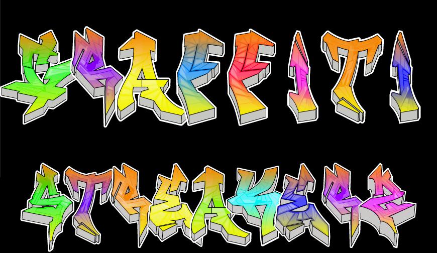 Danganronpa OC: Graffiti Streakerz Logo by GoldenCat12