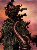 Hellboy Colored by likwidlead